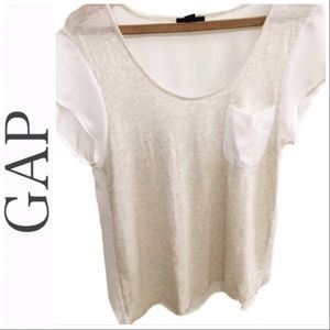 Gap• Cream and Silky White Top